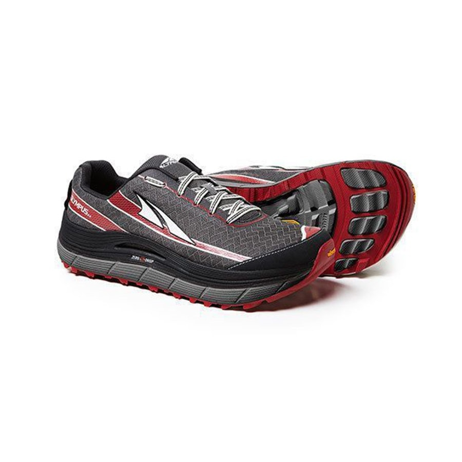 fddf005cc6ab Altra Olympus 2.0 Mens Shoes Pewter Racing Red - On and Off Running