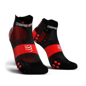 Compressport Racing Socks V3.0 Ultralight Run Lo Black/Red
