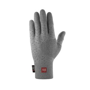 Compressport 3d Thermo Seamless Running Gloves Grey Melange
