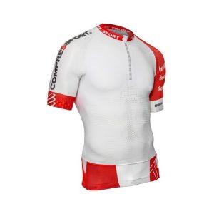 Compressport Mens Short Sleeve Trail Running Shirt V2 White