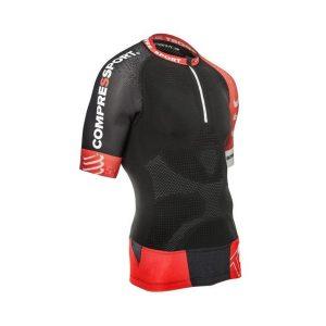 Compressport Mens Short Sleeve Trail Running Shirt V2 Black