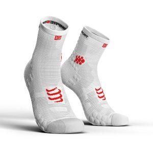Compressport Racing Socks V3.0 Run Hi Smart White