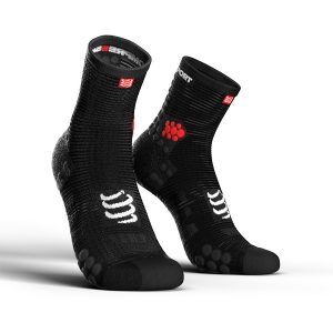 Compressport Pro Racing V3.0 - High Cut Running Socks Smart Black