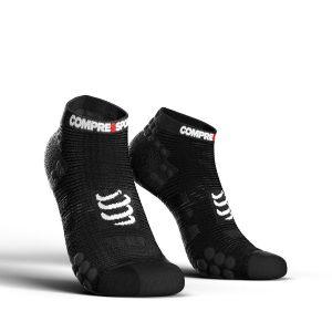 Compressport Racing V3.0 - Low Cut Running Socks Smart Black