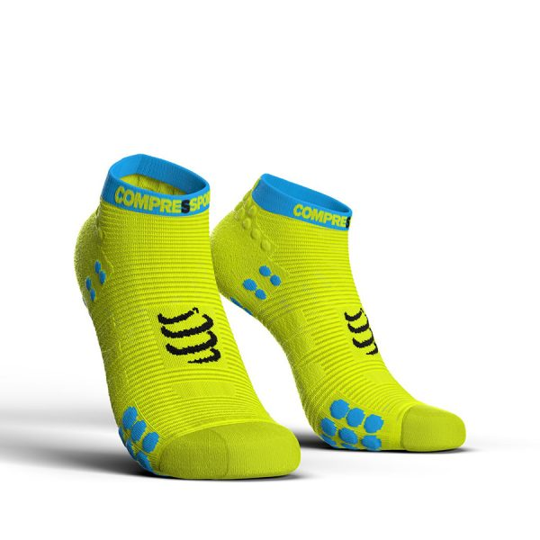 Compressport Racing V3.0 - Low Cut Running Socks Fluo Yellow