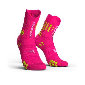 Compressport Racing V3.0 - Trail Running Socks Fluo Pink