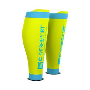 Compressport R2V2 Compression Calf Sleeves - FLUO Yellow