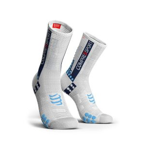 Compressport Racing Socks V3.0 Bike White/Blue
