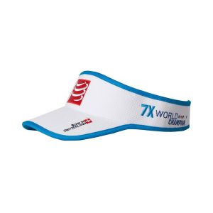 Compressport Triathlon/Running Visor Cap White