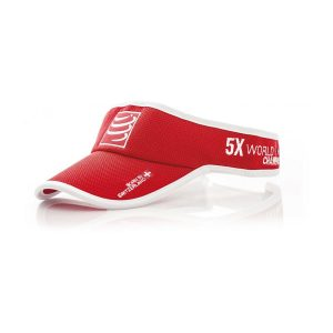 Compressport Triathlon/Running Visor Cap Red