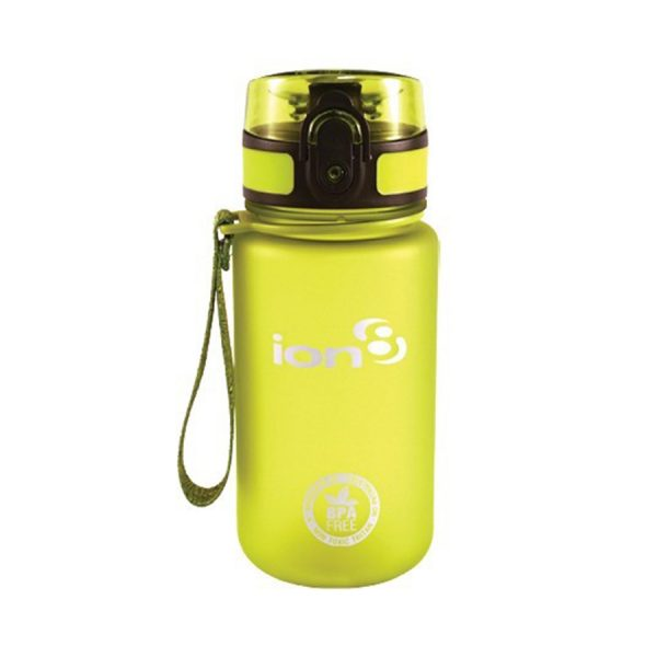 Ion8 Pod BPA Free Water Bottle - 350ml Frosted Green