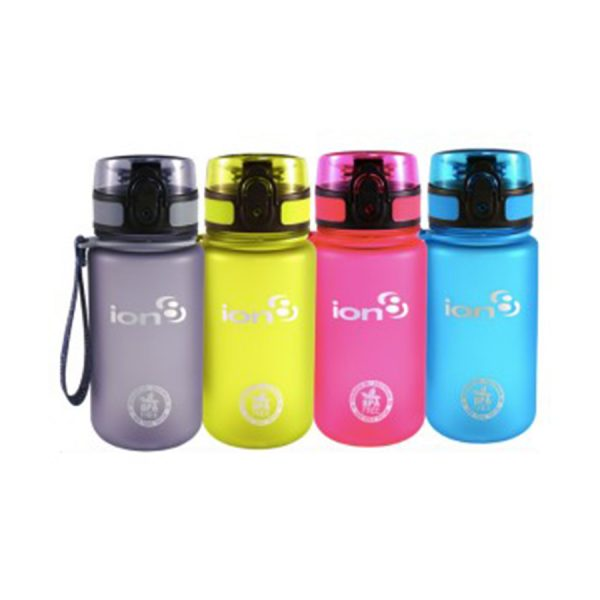 Ion8 Pod BPA Free Water Bottle - 350ml Frosted Pink