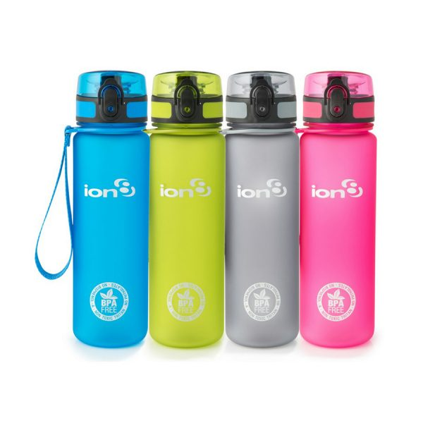 Ion8 Quench BPA Free Water Bottle - 1000ml Frosted Blue
