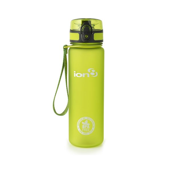 Ion8 Slim BPA Free Water Bottle - 500ml Frosted Green
