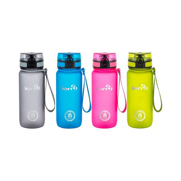Ion8 Tour BPA Free Water Bottle - 750ml Frosted Pink