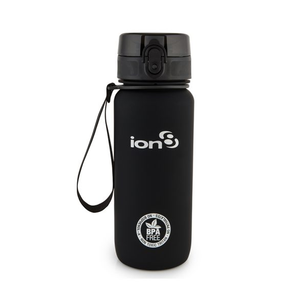 Ion8 Tour BPA Free Water Bottle - 750ml Solid Carbon