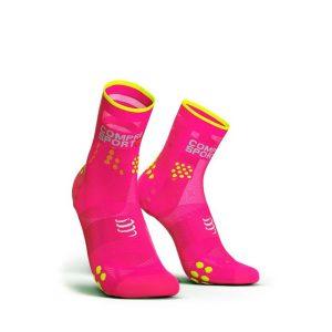 Compressport Racing Socks V3.0 Ultralight Run Hi Fluo Pink