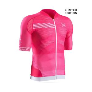 [Limited Edition] Compressport Cycling Shirt Born To Ride Monte Zoncolan Pink