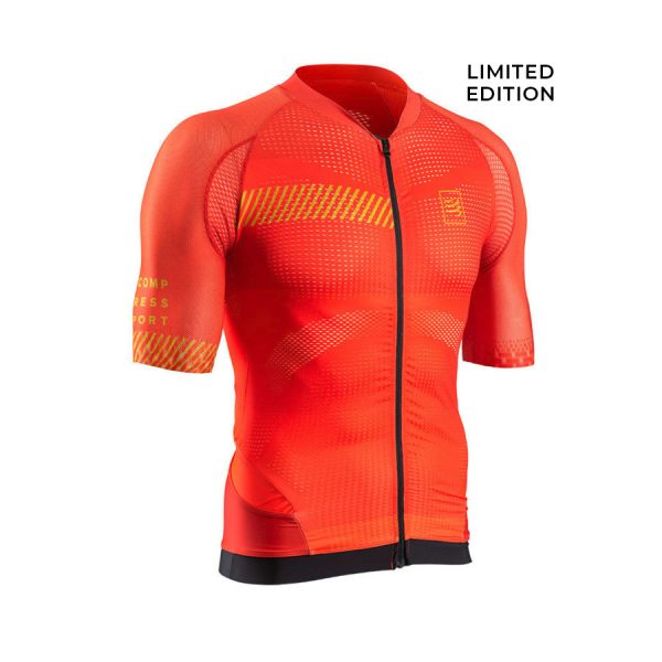 [Limited Edition] Compressport Cycling Shirt Born To Ride Lagos Covadonga Red