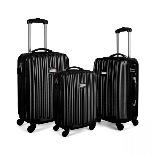 Milano Luxury Luggage 3pc Black