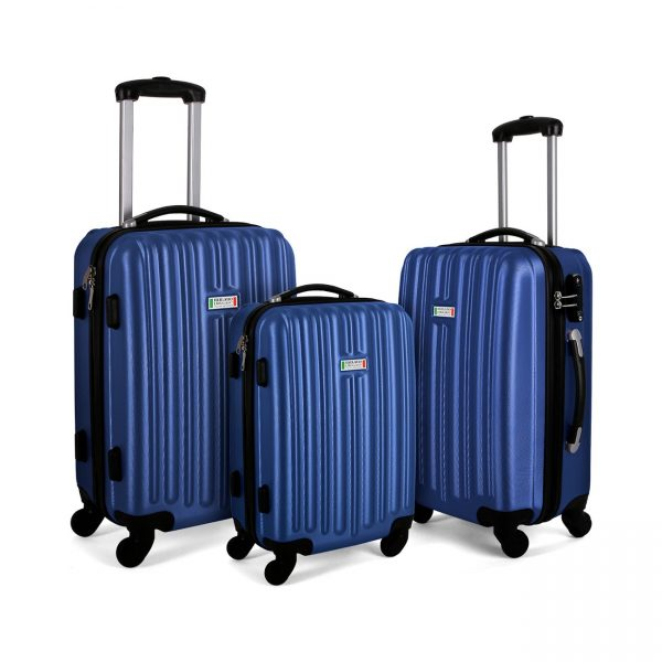 Milano Luxury Luggage 3pc Blue