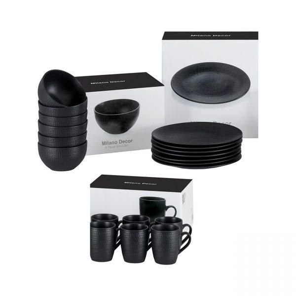 Milano 6pc stoneware set